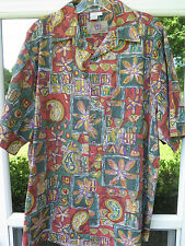 The Territory Ahead Short Sleeve Cotton Multi-Color Hawaiian Camp Shirt Large