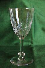 Val  Saint Lambert cristal 4 verres à eau taillés Modèle Sybille