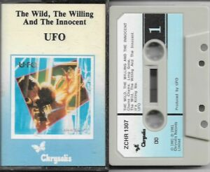 UFO The Wild, The Willing And The Innocent Cassette Tape Album Paper Label