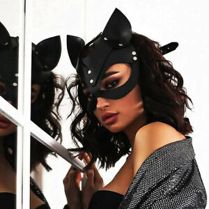 1x Erotic Women Sexy Mask Half Face Fox Cosplay Leather Halloween Party Toys F