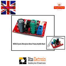 Low Noise NE5532 Dynamic Microphone Stereo Preamp Amplifier Board UK