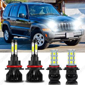 For Jeep Liberty 2002-2007 LED Headlight Fog Lights Bulbs Pure White Single Beam