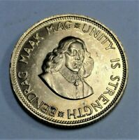 Südafrika  2 Rand 1962 GOLD - Jan van Riebeek / Springbock vz-st