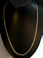 """24"""" SOLID CURB LINK SOLID 9CT GOLD CHAIN ** FULL UK HALLMARK**"""