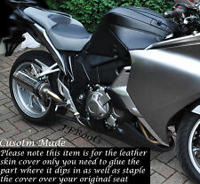 BLACK & GREY CUSTOM FITS HONDA VFR 1200 F 2009-2013 DUAL BIKE SEAT SKIN COVER