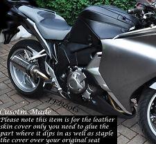 Negro Y Gris personalizado se adapta a Honda Vfr 1200 F 2009-2013 Doble Asiento De Bicicleta Cubierta De Piel