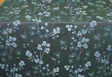 """NEW PER METRE BLUE & DARK GREY FLORAL PATTERN THICK WOVEN UPHOLSTERY FABRIC 56""""W"""
