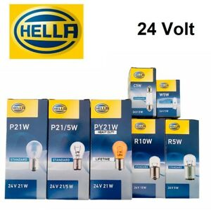 10x Hella 24V R5W R10W P21W P21/5 PY21W W5W C5W Lampe Glühbirne Kugellampe Birne