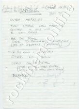 Erasure Andy Bell's Handwritten Production Notes Unfold Choir Notes 1993
