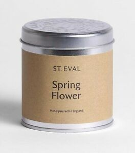 St Eval Springflower Scented Candle in a Tin. 45 Hours Burn Time