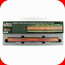 N Scale SP SOUTHERN PAC Articulated 2 Car Passenger Set 4 KATO 1066308 Weathered