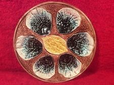 Beautiful Antique Majolica Oyster Plate c.1800's, op292 GIFT QUALITY!!