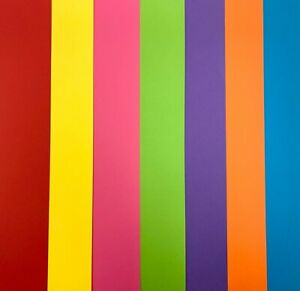 A4 A5 Intensive Coloured Card 160gsm 7 Colours Choice Bright Colours 10-50 Sheet
