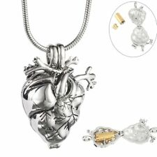 Heart Cremation Urn Necklace for Ashes Keepsake Jewelry Memorial Pendant Organ