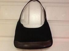 Nine West purse shoulder bag black brown hobo  H19