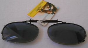 CliP ONS Polarized PEWTER GRAY ADJUSTABLE EYEWEAR STYLE SCIENCE CLEAR POUCH