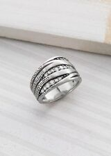 Silpada Organics Ring R2035 Sterling Silver Cubic Zirconia Size 6 New Old Stock