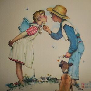 Vintage Norman Rockwell Beguiling Buttercup, 1981 print