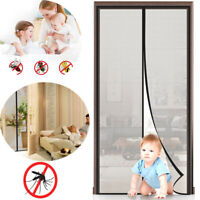 Magnetic Screen Door Super Strong Fly Mesh Curtain Keep Mosquitos Out 110x 220cm