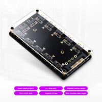 5V 3 Polig RGB 10 Hub Splitter SATA Aura Verlängerungskabel Motherboard Lüfter