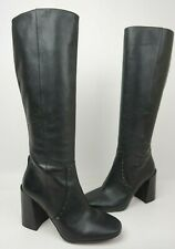 Coach Falon Black Leather Knee High Boots Style # G2964 Size 8.5