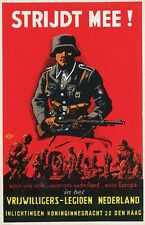 German WW2 Netherlands Waffen SS Wehrmacht large Poster