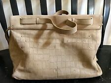 JEROME DREYFUSS 'Carlos' in Suede Beige Sold Out  XL Satchel Bag