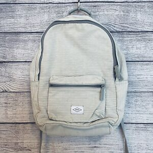Fossil Canvas Off White Striped Backpack Book Bag