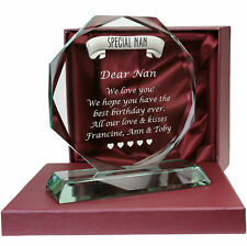 Special Nan Engraved Glass Gift Birthday Christmas Xmas Deceased Sympathy Gifts