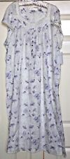 EILEEN WEST PURPLE FLORAL FLOWERS PLUS SIZE NIGHTGOWN GOWN 3XL NWT NEW
