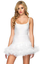 Leg Avenue Womens Sexy Petticoat Dress Halloween Costume Size Medium/Large White