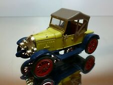 DINKY TOYS 476 MORRIS OXFORD BULLNOSE - YELLOW + BLUE 1:43 - GOOD CONDITION