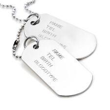 collar de cadena para Hombre moda acero inoxidable colgante Regalo de lujo Plata
