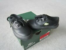 Lacoste,Albany poc spi,Black & green trainers ,synthetic UK child 4,EU 20,USA 5