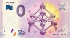 Billet Touristique 0 Euro --- Atomium (revers Tour de Belem) - 2017-1 - EPUISE