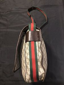 GUCCI GG SUPREME CROSSBODY WEB MESSENGER SHOULDER BAG LARGE 189748 ALL AUTHENTIC