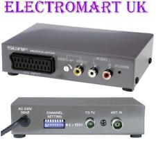SLX RF MODULATOR CONVERT SCART OR PHONO TO AERIAL RF COAX