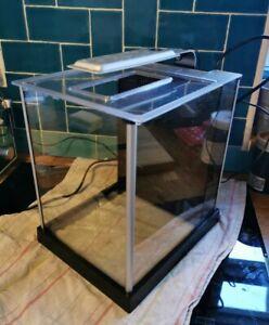 Fluval Spec Aquarium Fish Tank 10L - Black Desk Top LED nano. 2 months used