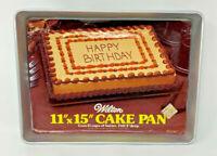 """Wilton 11"""" X 15"""" Cake Pan 2"""" Deep 1976 2105-158 Aluminum 19-1730"""