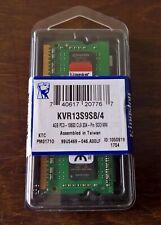 4GB Kingston DDR3 1333MHz RAM for laptops KVR13S9S8/4 PC3 SODIMM CL9