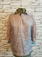 La Redoute Soft Grey Silk grey paisley blouse shirt top size 8/10 uk