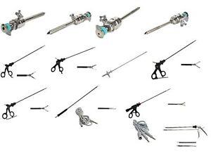 Laparoscopy Instruments Set Trocar Graspers Bipolar clip Applicator 13PC ADDLER