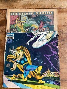Silver Surfer #4 Marvel Comic Classic Cover Thor vs Silver Surfer 1969 Buscema i