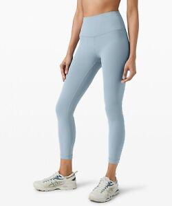 Lululemon High Rise Sz 6 Light Blue Leggings workout pants jogger cross fit