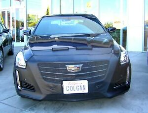 Colgan Front End Mask Bra 2pc. Fits Cadillac CTS Turbo 2015-2019 W/Licen&Sensor