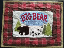 One (1) Woolrich Kids Big Bear Campground Pillow Sham Red Plaid