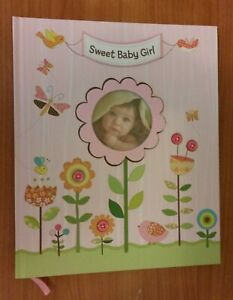Sweet Baby Girl Pink Hardcover Baby Book Birth-5 Yr NEW