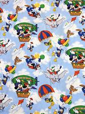 VTG Disney Dumbo Mickey Minnie Goofy Duvet Cover Sheets Fabric BROKEN ZIP