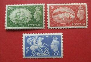 SG509-11 George VI 1951 High Value Definitive Part Set MM