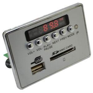 Car Bluetooth Kit Wireless MP3 Decoder Board Audio Module USB SD TF FM Radio